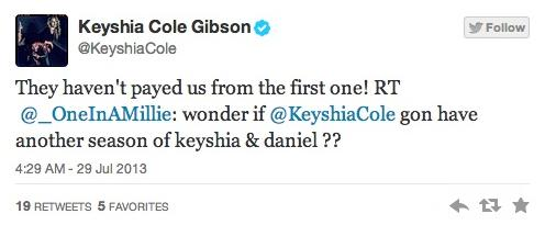 keyshia cole bet tweet