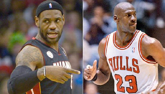 lebron james & michael jordan