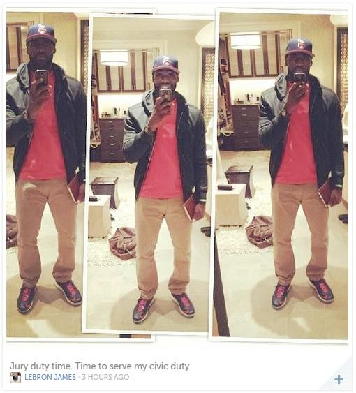 lebron james (instagram selfie)