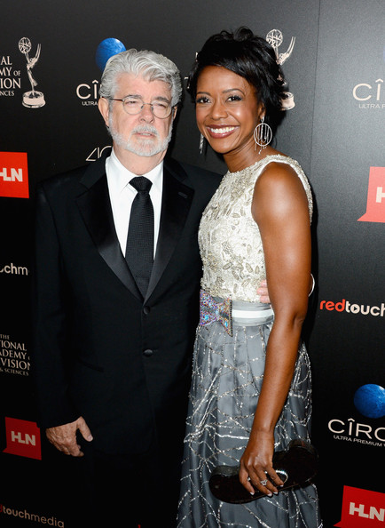 Producer/director George Lucas and Mellody Hobson attend The 40th Annual Daytime Emmy Awards at The Beverly Hilton Hotel on June 16, 2013 in Beverly Hills