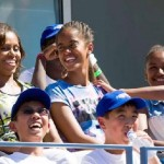 FLOTUS Michelle Obama and Her Girls Attend 'The Trip to Bountiful'