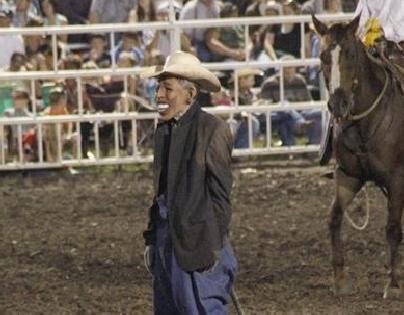 obama rodeo clown