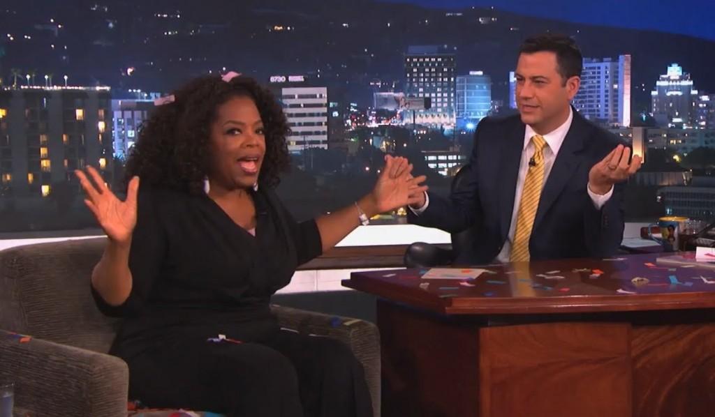 oprah gives away car on kimmel