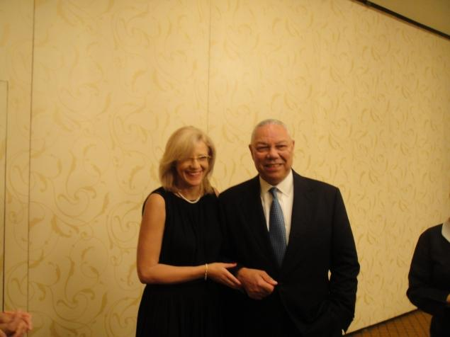 Former U.S. Secretary of State and retired U.S. Army General Colin Powell, right, denies he had an affair with Romanian diplomat Corina Cretu, left. He says email messages made public by a hacker are those of 'a friendship that electronically became very personal and then back to normal.'