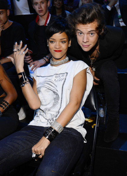 Rihanna and Harry Styles attends the 2013 MTV Video Music Awards at the Barclays Center on August 25, 2013 in the Brooklyn borough of New York City