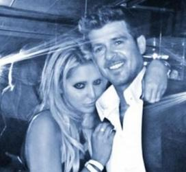 robin thicke & blonde