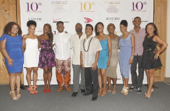 Evidence, A Dance Company Founder & Artistic Director Ronald K. Brown (center) is pictured with the legendary Evidence, A Dance Company