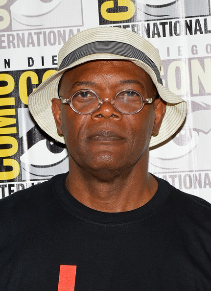 "Actor Samuel L. Jackson attends Marvel Studios' ""Thor: The Dark World"", ""Captain America: The Winter Soldier"" and ""Guardians of The Galaxy"" during Comic-Con International 2013 at Hilton San Diego Bayfront Hotel on July 20, 2013 in San Diego"