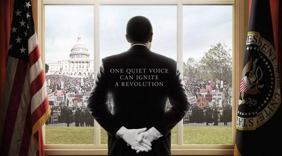 the butler (looking out oval office window)