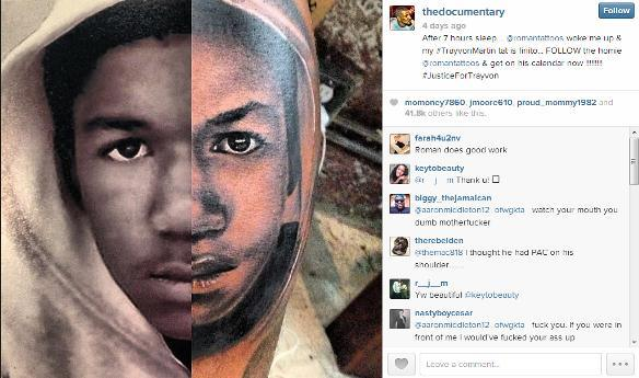 the-game-trayvon-tattoo