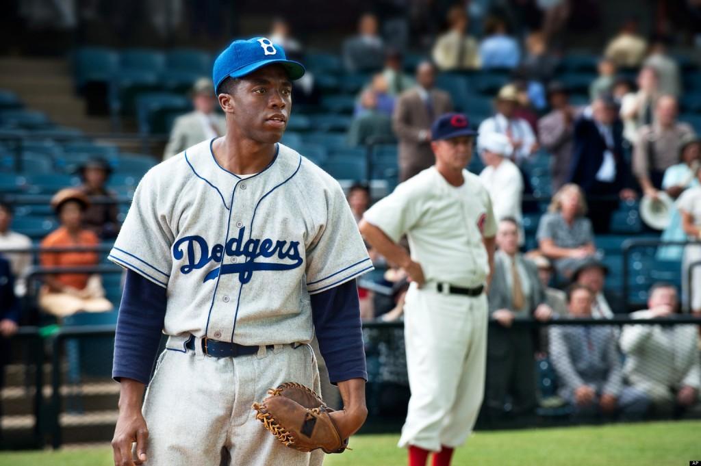 """Chadwick Boseman in """"42"""""""