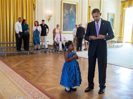 president obama & little girl