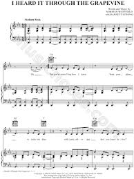 Grapevine sheet music