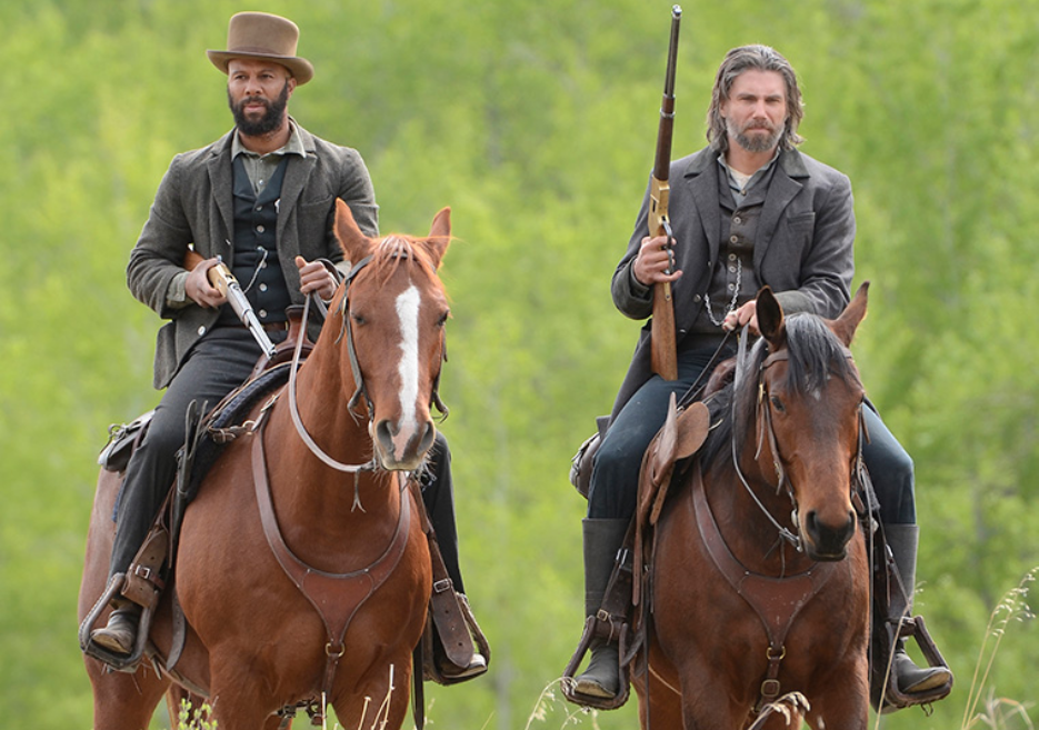 "Common as Elam, Anson Mount as Cullen in AMC's ""Hell on Wheels"""