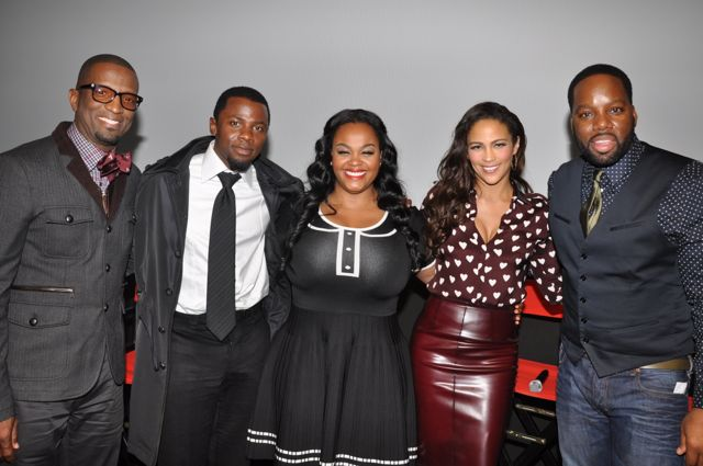 "The cast of ""Baggage Claim"""
