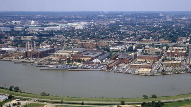 Aerial shot of Washington Navy Yard