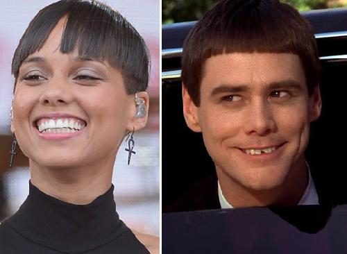 alicia keys & jim carrey (dumb & dumber)
