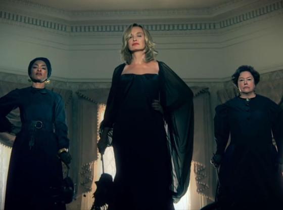 "Angela Bassett, Jessica Lange, Kathy Bates in ""American Horror Story: Coven"""