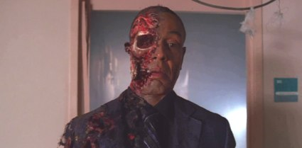 "Giancarlo Esposito as drug kingpin Gustavo Fring - after Walter White got to him - in AMC's ""Breaking Bad"""