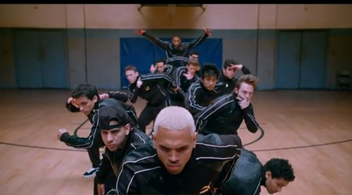 "Chris Brown (front) in ""Battle of the Year"""