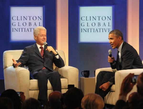 clinton & obama