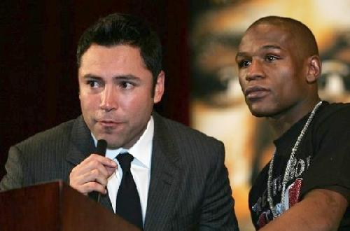 de la hoya and mayweather