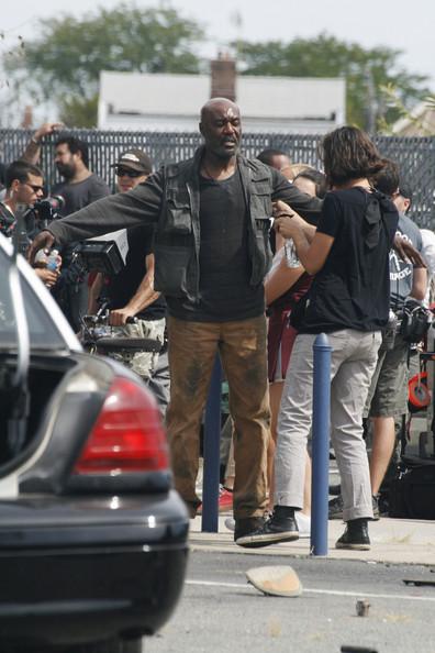 Delroy Lindo films 'Cymbeline' in Brooklyn on September 9, 2013