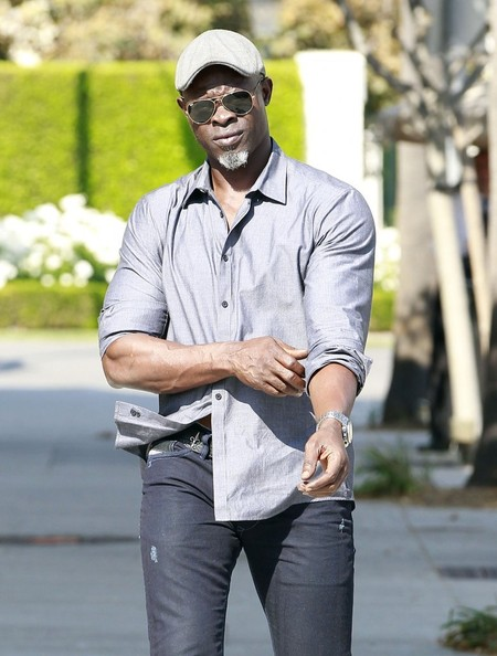 'Blood Diamond' actor Djimon Hounsou out and about in Beverly Hills, California on August 26, 2013