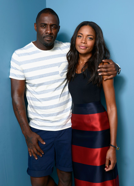 Actor Idris Elba and actress Naomie Harris of 'Mandela: Long Walk to Freedom' pose at the Guess Portrait Studio during 2013 Toronto International Film Festival on September 8, 2013 in Toronto