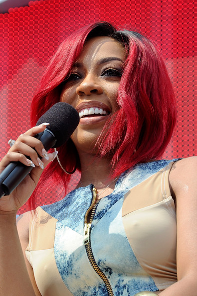 Recording artist K.Michelle onstage during at 106 & Park Live presented by Coke during the 2013 BET Experience at L.A. LIVE on June 29, 2013 in Los Angeles