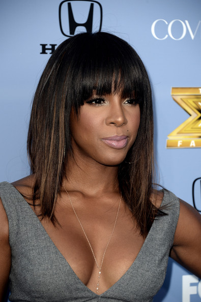 "Singer Kelly Rowland arrives at Fox's ""The X Factor"" Season 3 premiere party at Ciccone Restaurant on September 5, 2013 in West Hollywood"