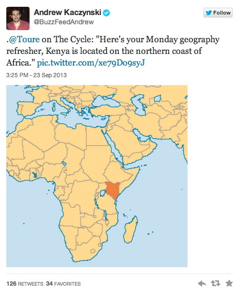 kenya not on northern coast