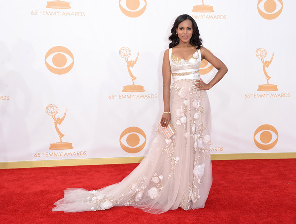 Actress Kerry Washington arrives at the 65th Annual Primetime Emmy Awards held at Nokia Theatre L.A. Live on September 22, 2013 in Los Angeles,