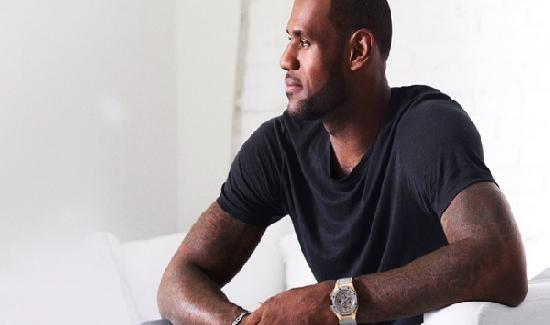 lebron james wearing watch