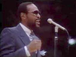 marvin gaye (at mic)