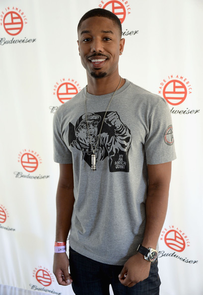 Actor Michael B. Jordan attends the 2013 Budweiser Made In America Festival at Benjamin Franklin Parkway on August 31, 2013 in Philadelphia