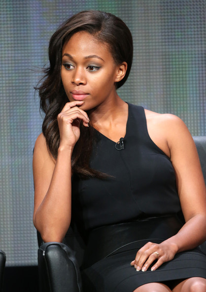 """Actress Nicole Beharie speaks onstage during the """"Sleepy Hollow"""" panel discussion at the FOX portion of the 2013 Summer Television Critics Association tour - Day 9 at The Beverly Hilton Hotel on August 1, 2013 in Beverly Hills"""