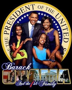 obama & family & president seal