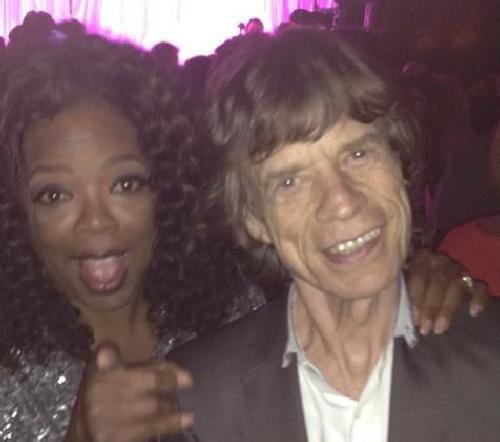oprah & mick jagger