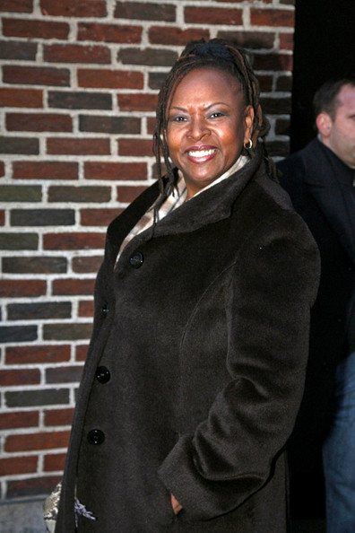 "Howard Stern's co-host Robin Quivers arrives for ""The Late Show with David Letterman.""  (February 3, 2011)"