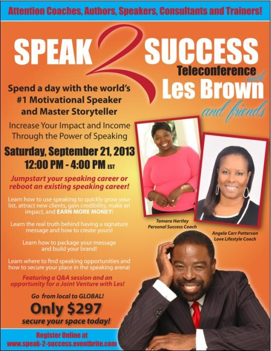 speak 2 success flyer