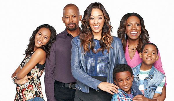 The cast of 'Instant Mom,' from left, includes Sydney Park, Michael Boatman, Tia Mowry-Hardrict, Damarr Calhoun, Sheryl Lee Ralph and Tylen Williams. (Nickelodeon)