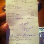 Red Lobster Waitress was Reprimanded for Posting Racist Receipt