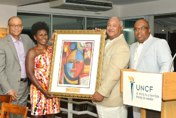 uncf: Maurice E. Jenkins Jr., honoree Sylvia Woods, Early Reese and Fred D. Mitchell