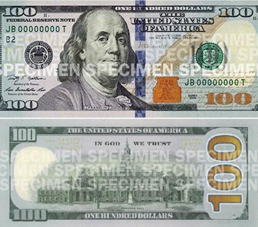 $100 (one hundred) dollar bill