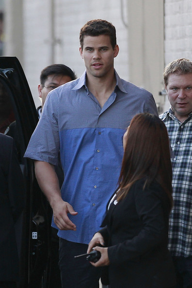 Kris Humphries makes an appearance on 'Jimmy Kimmel Live' in Hollywood. (August 14, 2013)