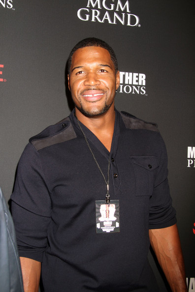Michael Strahan attend VIP pre Fight Party for Showtime PPV's Presentation at MGM Grand Garden Arena for the Floyd Mayweather Jr. vs. Canelo Alvarez boxing match in Las Vegas
