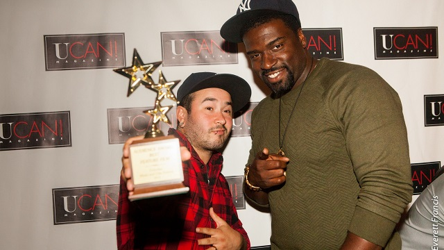 Director Eric Branco, actor Stephen Hill