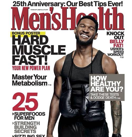 Usher covers Men's Health mag