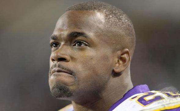 adrian peterson (grimmace)